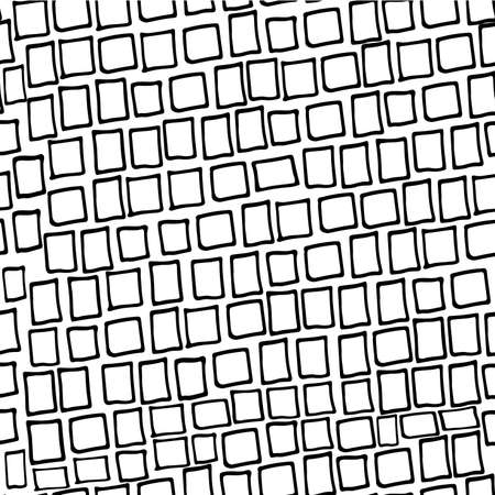 grid pattern: Background seamless pattern of hand drawn linear rectangles vector illustration
