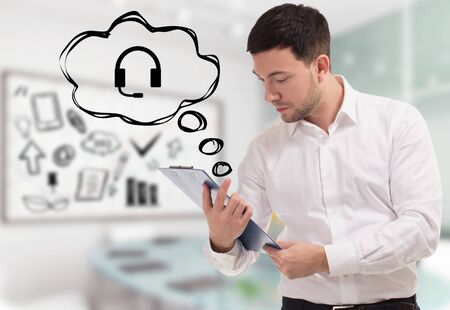 Concept d'entreprise, de technologie, d'Internet et de réseau. Banque d'images