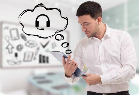 Koncepcja biznesu, technologii, Internetu i sieci. Zdjęcie Seryjne