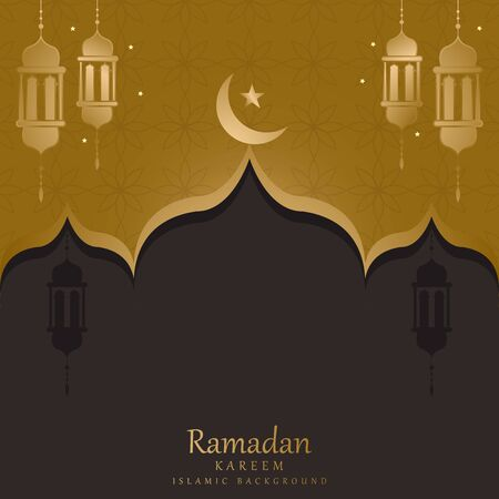 vector islamic decoration ornate. mandala in golden color Vectores