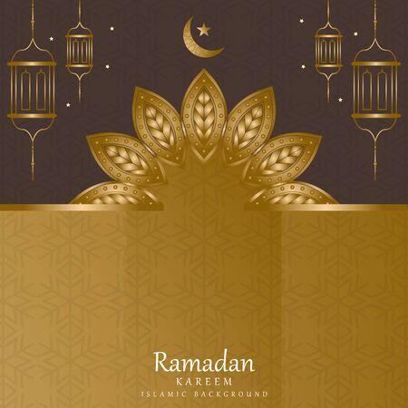 Vector islamic decoration ornate. mandala in golden color