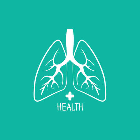Human lungs design template Vector Illustration