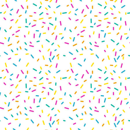 Seamless pattern with donut glaze on a white background