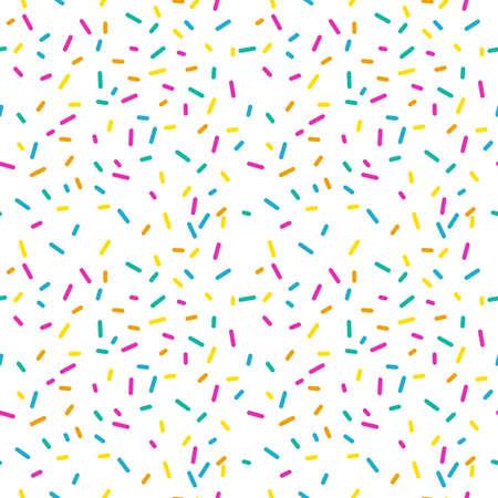 Nahtlose Muster mit Donut-Glasur auf einem weißen Hintergrund