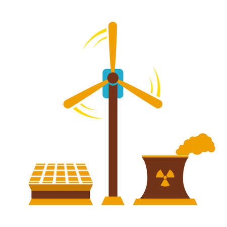 Vector illustration of various sources of energy collection