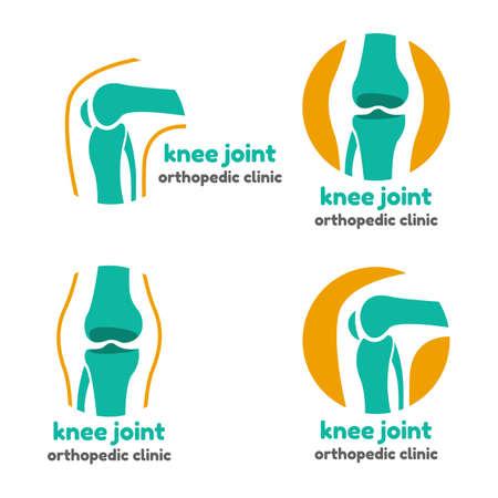 Ronde symbool van kniegewricht botten voor orthopedische doeleinden Stockfoto