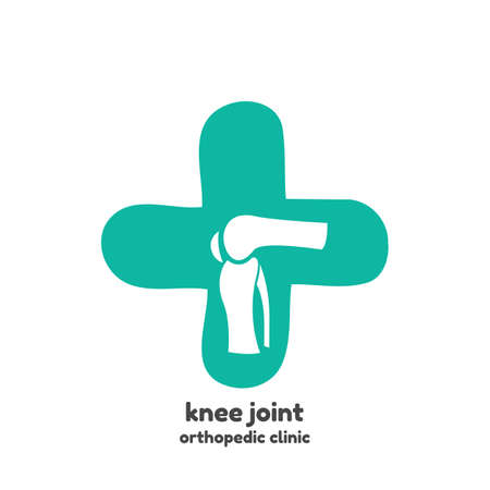 Round symbol of knee joint bones for orthopedic purposes