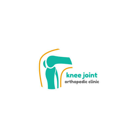 symbols: Round symbol of knee joint bones for orthopedic purposes