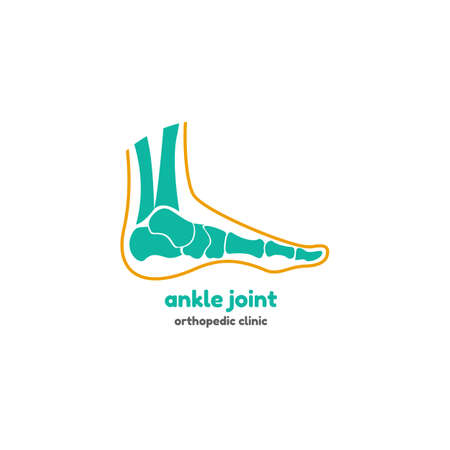 Template logo for ankle joint. Orthopedic clinic logo.