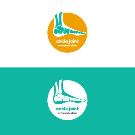 metatarsal: Template logo for ankle joint. Orthopedic clinic logo