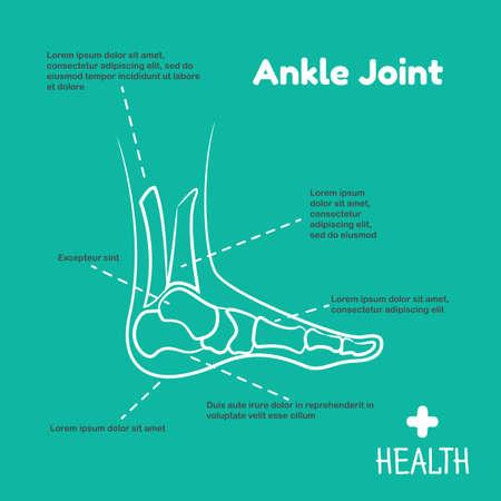 calcaneus: Template logo for ankle joint. Orthopedic clinic logo