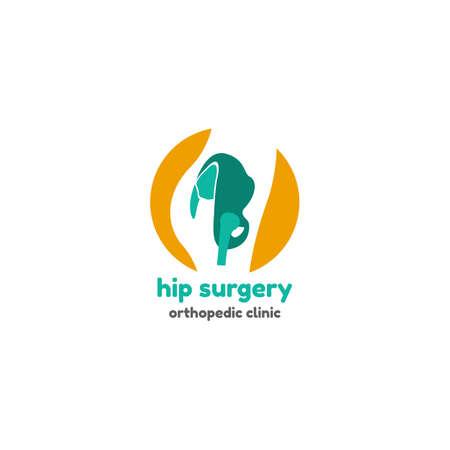 Schablonenlogo für angesagte Chirurgie. Orthopädisches Kliniklogo Logo