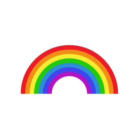 Rainbow icon flat. Homosexual minority concept icon Illustration