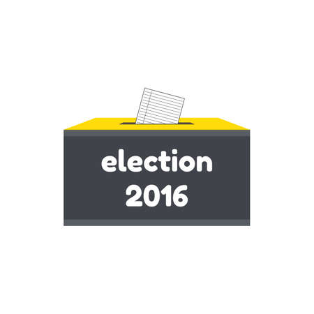 Badge Election 2016. Vevtor illustration of election concept Vectores