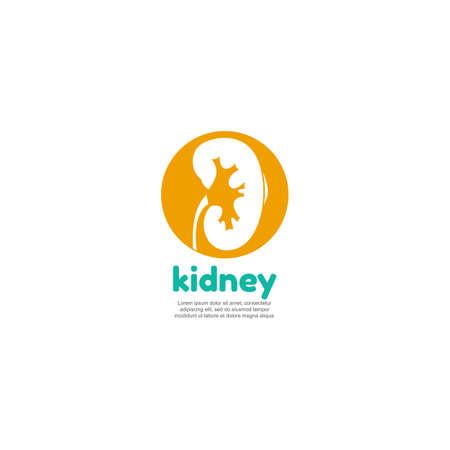 Logotipo de plantilla para los riñones humanos