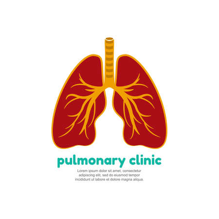 Template vector for human lungs. Pulmonary clinic Illustration