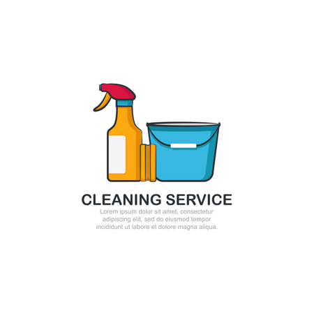 Cleaning service logo template.