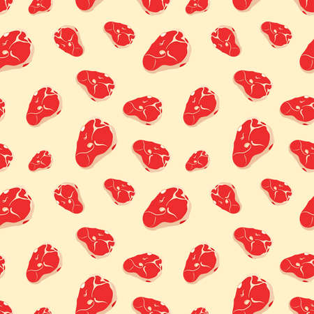 Seamless pattern with meat.