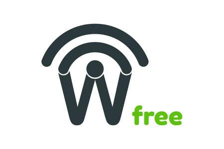 Free wireless network icon  design vector template