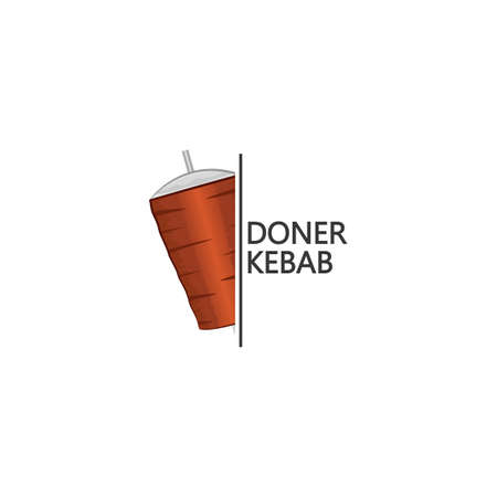 Doner kebab design vector template Vectores