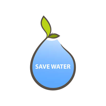 Logo concept for save water