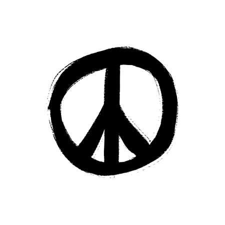 illustration of hand drawn peace symbol Ilustrace
