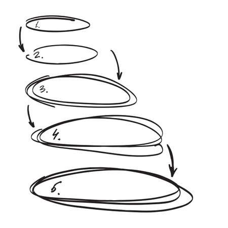 Insieme vettoriale di elementi disegnati a mano per la selezione del testo. Vettoriali