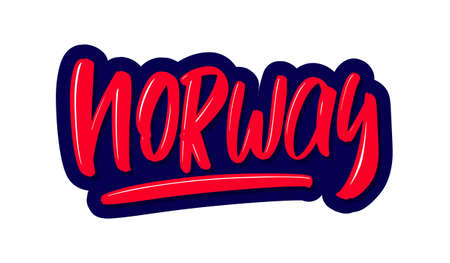 Norway modern brush lettering text. Vector illustration logo for print and advertising