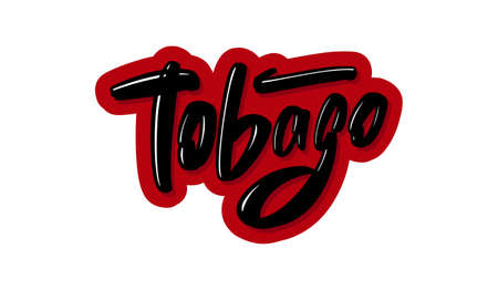 Tobago modern brush lettering text. Vector illustration logo for print and advertising