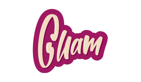 Guam modern brush lettering text. Vector illustration logo for print and advertising
