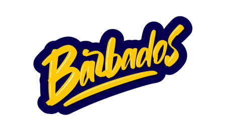 Barbados modern brush lettering text. Vector illustration logo for print and advertising