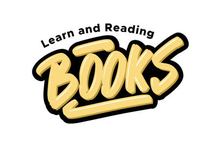 Books logo. Vector illustration text for business, print and advertising