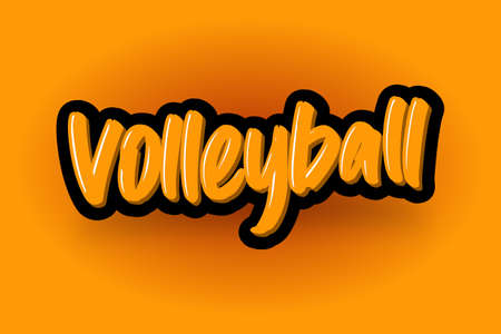 Volleyball hand drawn modern brush lettering. Vector illustration logo text for business, print and advertising.