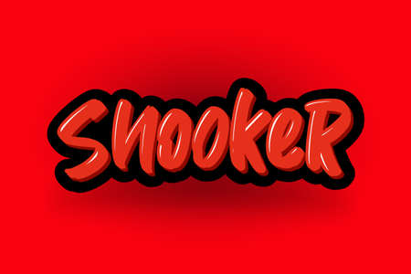 Snooker hand drawn modern brush lettering. Vector illustration logo text for business, print and advertising.