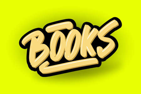 Books hand drawn modern brush lettering. Vector illustration logo text for business, print and advertising.