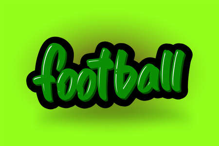 Football hand drawn modern brush lettering. Vector illustration logo text for business, print and advertising. Stock Illustratie