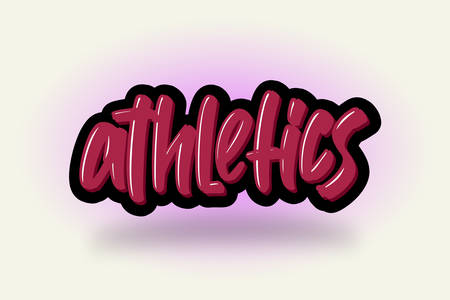 Athletics hand drawn modern brush lettering. Vector illustration logo text for business, print and advertising.