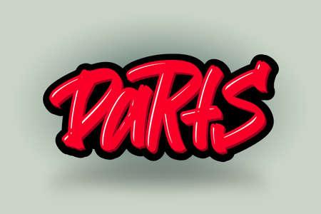 Darts hand drawn modern brush lettering. Vector illustration logo text for business, print and advertising. Stock Illustratie