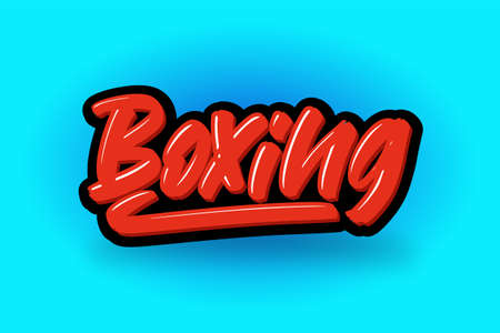 Boxing hand drawn modern brush lettering. Vector illustration logo text for business, print and advertising.