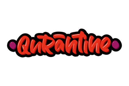 Coronavirus. Qurantine hand drawn brush lettering. Vector illustration logo text for webpage, print and advertising.