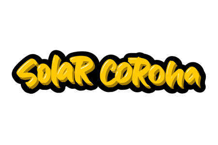 Coronavirus. Solar Corona hand drawn brush lettering. Vector illustration logo text for webpage, print and advertising. Banque d'images - 139166258