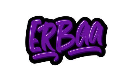 Erbaa city hand drawn modern brush lettering