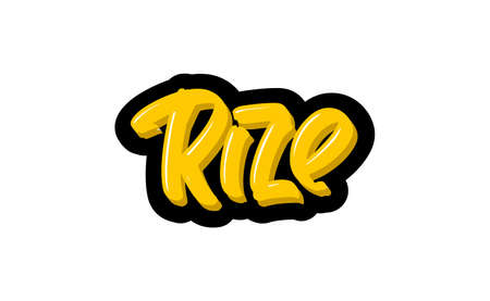 Rize, Turkey hand drawn modern brush lettering. Vector illustration logo text for webpage, print and advertising. Banque d'images - 139166500