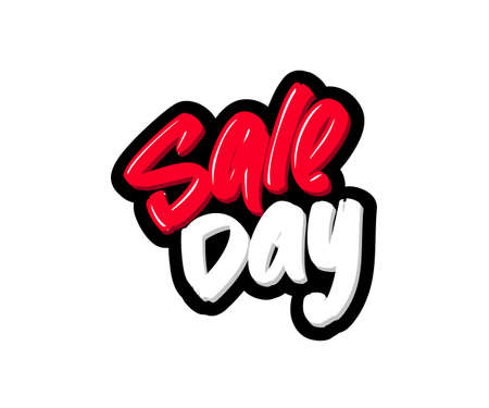 Sale day logo text. Vector illustration for webpage, print and advertising Banque d'images - 139166509
