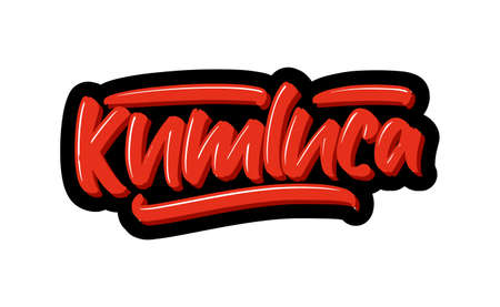 Kumluca, Turkey city hand drawn modern brush lettering. Vector illustration logo text for webpage, print and advertising. Illustration
