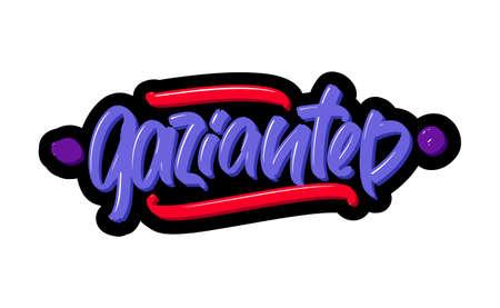 Gaziantep, Turkey city logo text. Vector illustration of hand drawn lettering on white background Illustration
