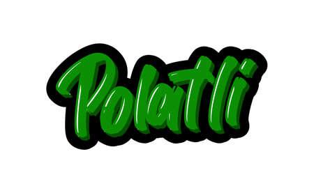 Polatli logo text. Vector illustration of hand drawn lettering on white background Illusztráció