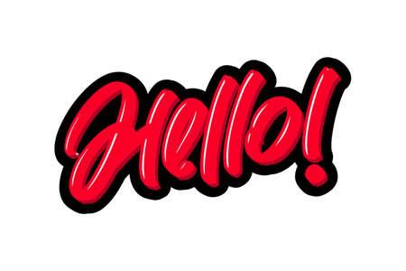 Hello logo text. Vector illustration for webpage, print and advertising. Illusztráció