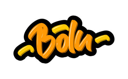 Bolu, Turkey city logo text. Vector illustration of hand drawn lettering on white background Banque d'images - 139166844