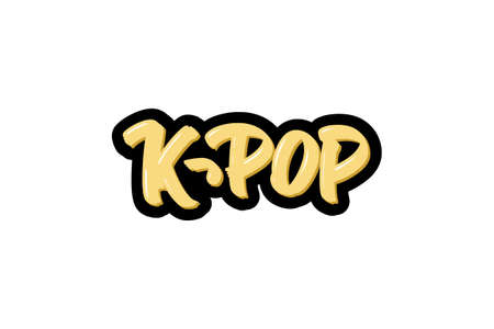 k-pop hand drawn modern brush lettering text.  illustration for print and advertising Banque d'images - 144071775